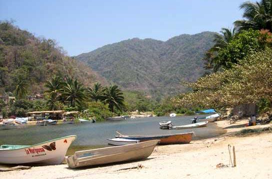 Casa de Los Artistas Boca de Tomatlan Fishing Boats