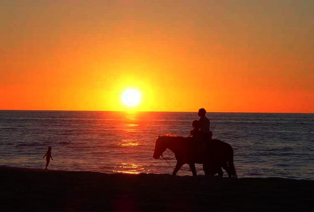 Costa Azul San Poncho Riviera Nayarit Beach Horseback Ride at Sunset