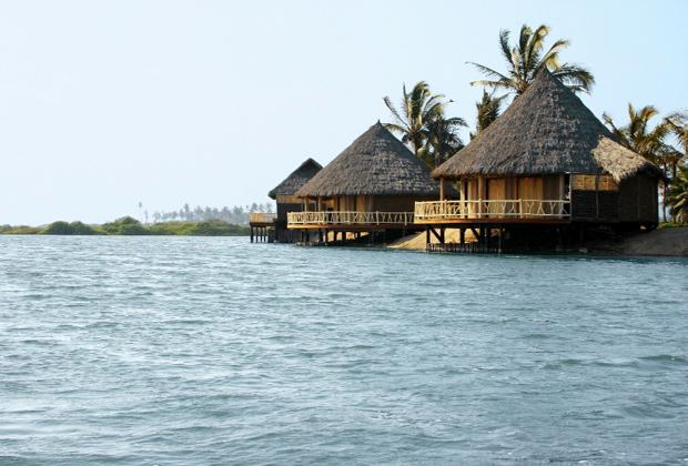 Hotel Desconocido Eco Resort Mexico Luxury Palapa on Stilts in Lagoon