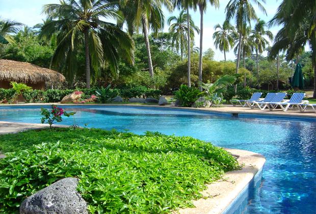 Mar de Jade Chacala Riviera Nayarit Oceanfront Pool in Tropical Gardens