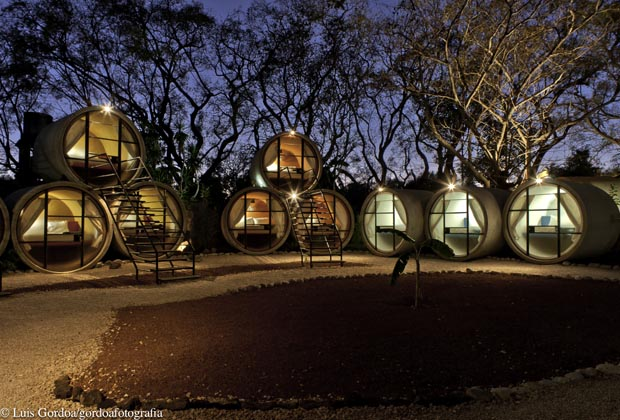 Tubohotel Tepoztlan Unique Pyramid Style Hotel Mexico