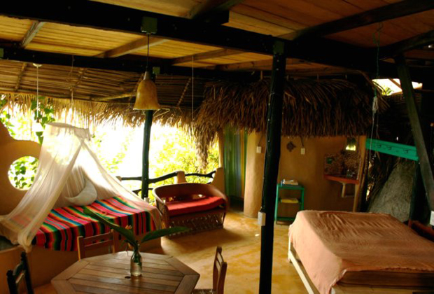 Casa Santa Cruz Luna bungalows Retreat Yelapa Mexico Outdoor Bedroom