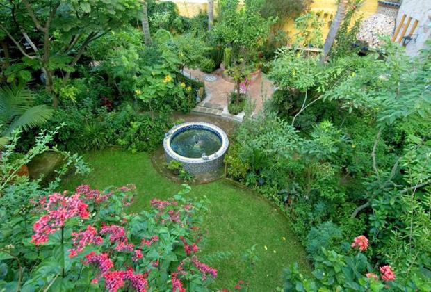 Casa de Las Flores B&B Tlaquepaque Guadalajara Courtyard Garden
