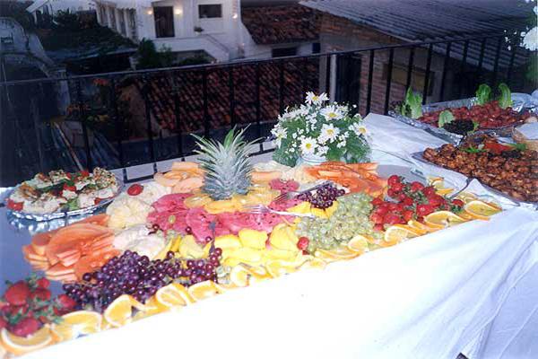 Chez Elena Puerto Vallarta Restaurant at Los Cuatro Vientos Hotel Tropical Buffet