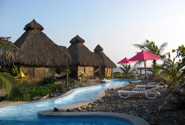 CocoCabañas 22 k beach Barra de Navidad Mexico Relaxing Vacation