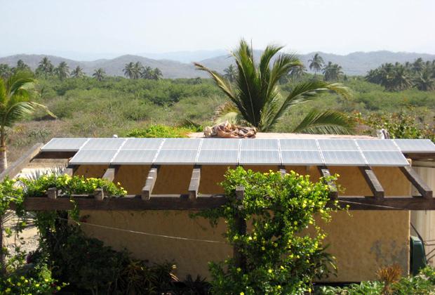 CocoCabañas Barra de Navidad Mexico Solar Panel
