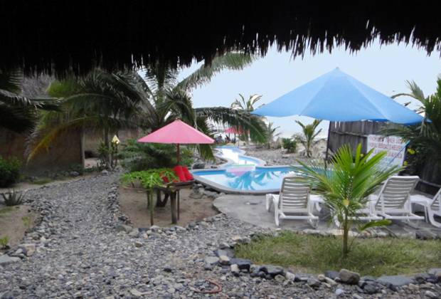 CocoCabañas Beachside Bungalows Barra de Navidad Mexico lounge area