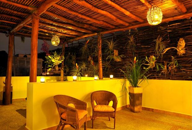 Hacienda Alemana Romantic Adult Hotel Old Vallarta Pool Lounge Area