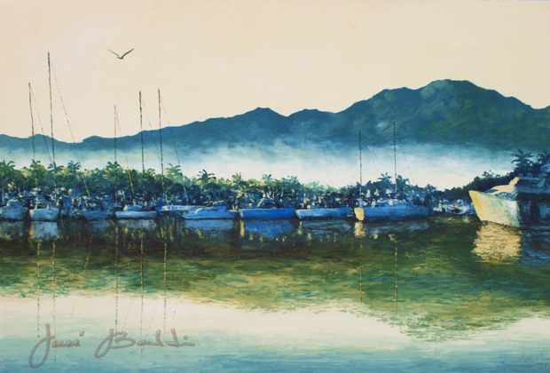 JOSE BALDI - NUEVO VALLARTA ARTIST 865-09 MORNING FISHING acr-tela 80x100