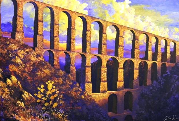 JOSE BALDI - PUERTO VALLARTA - 988-11 ARCOS DEL SITIO acr-tela 90x120