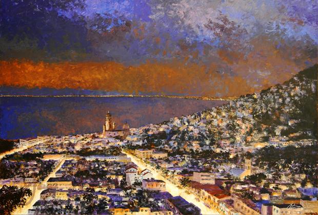 JOSE BALDI - VALLARTA  ARTISTA PLASTICA 981-11 PANORAMICA I acr-tela 127x190