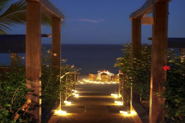 Majahuitas Eco Resort Romantic Beach Wedding with Fireworks