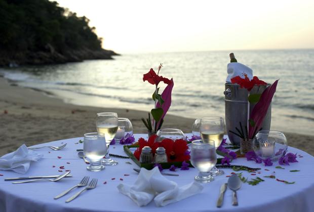 Majahuitas Eco hotel Sunset Beach Dining Wedding Ceremony Mexico