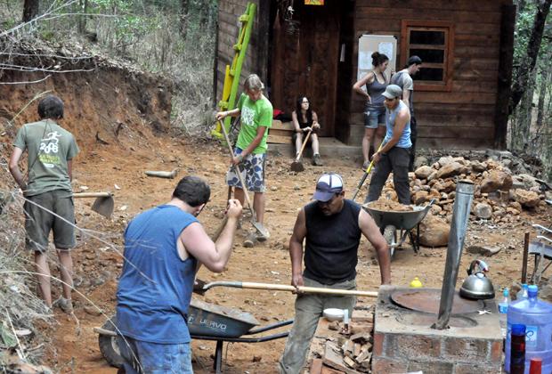 Bosque Village Patzcuaro Erondicuaro Michoacan Mexico Work Party