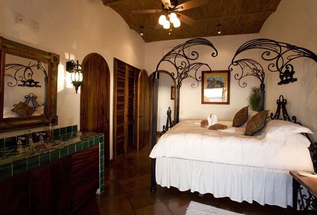 Casa Corona Puerto Vallarta Whimsical Wrought Iron Bed Frame
