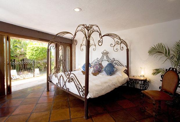 Casa Corona Vallarta Hand Crafted Wrought Iron Bed Frame