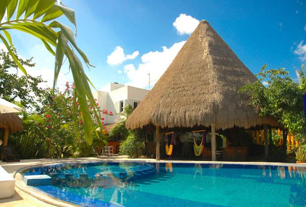 Don Diego de la Silva -Tulum Pool Patio with Hammocks