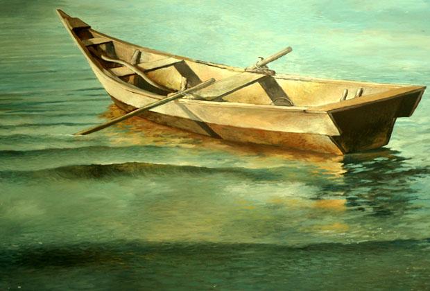 Efren Gonzalez Ajijic Mexico Fishing Boat Lake Chapala