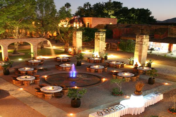 Hacienda El Carmen montaje Outdoor Wedding Mexico