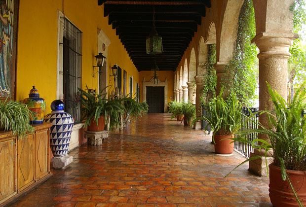 Hacienda el Carmen Mexico corredor fachada