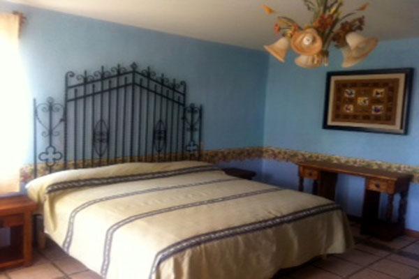 Hotel Casa Ixhi, Patzcuaro Michoacan Wrought Iron Bed