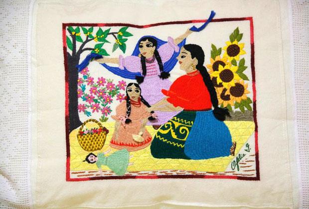 La Casona Rosa Morelia Michoacan Folk Art Embroidery