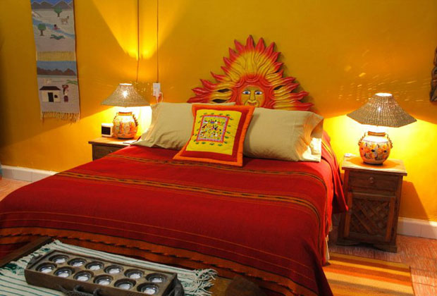Casa rosa is a traditional old mexico style bed and for Muebles rusticos mexicanos