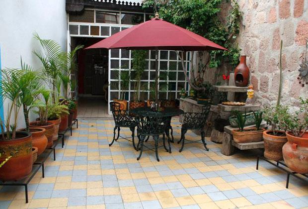 La Casona Rosa Morelia Michoacan Private Courtyard Patios