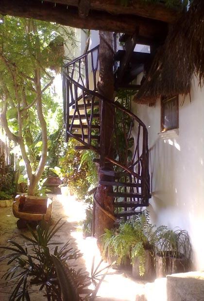 Posada Yum Kin Hotel - Tulum, México Circular Staircase