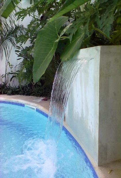 Posada Yum Kin Hotel - Tulum - Quintana Roo - Mexico - Pool-Waterfall