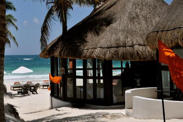 Shambala Petit Hotel Tulum Mexico Beachside Palapas