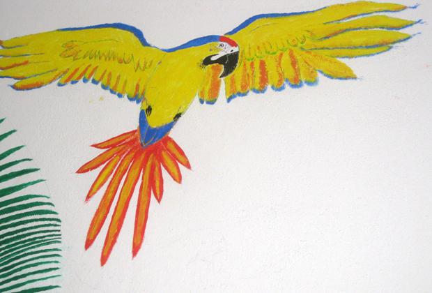 Arturo Hernandez Parrot Mural Guayacamaya