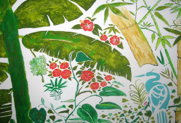 Arturo Hernandez Puerto Vallarta Jungle Mural