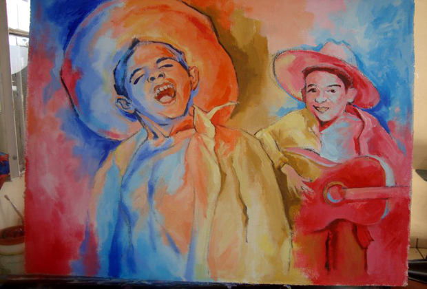 Felipe Bernal Artist Guadalajara Mexico Children Musicians