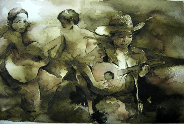Felipe Bernal Artista Plastico Mexico Children and Guitars