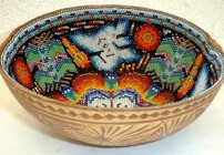 Huichole Bowls Peyote People Gallery Puerto Vallarta