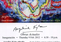 Angeline Kyba Invitation to February 9, 2012 Gallery Opening - Puerto Vallarta