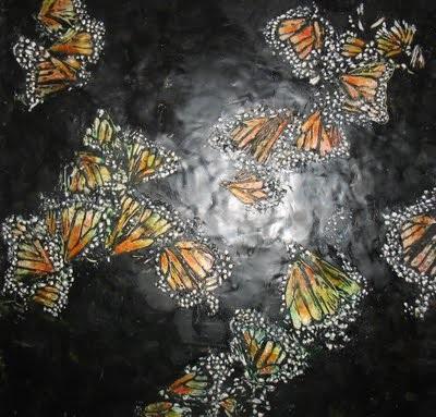 Butterfiles in Mexcio  Ezshwan Winding Encaustic Artist San Miguel