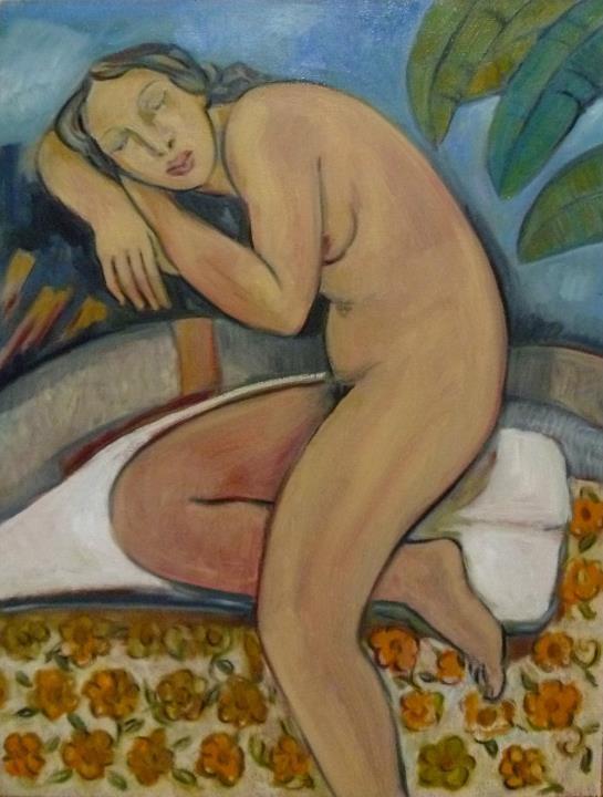 Maestro Juan Torres Calderon, Nude Female, Morelia Artist