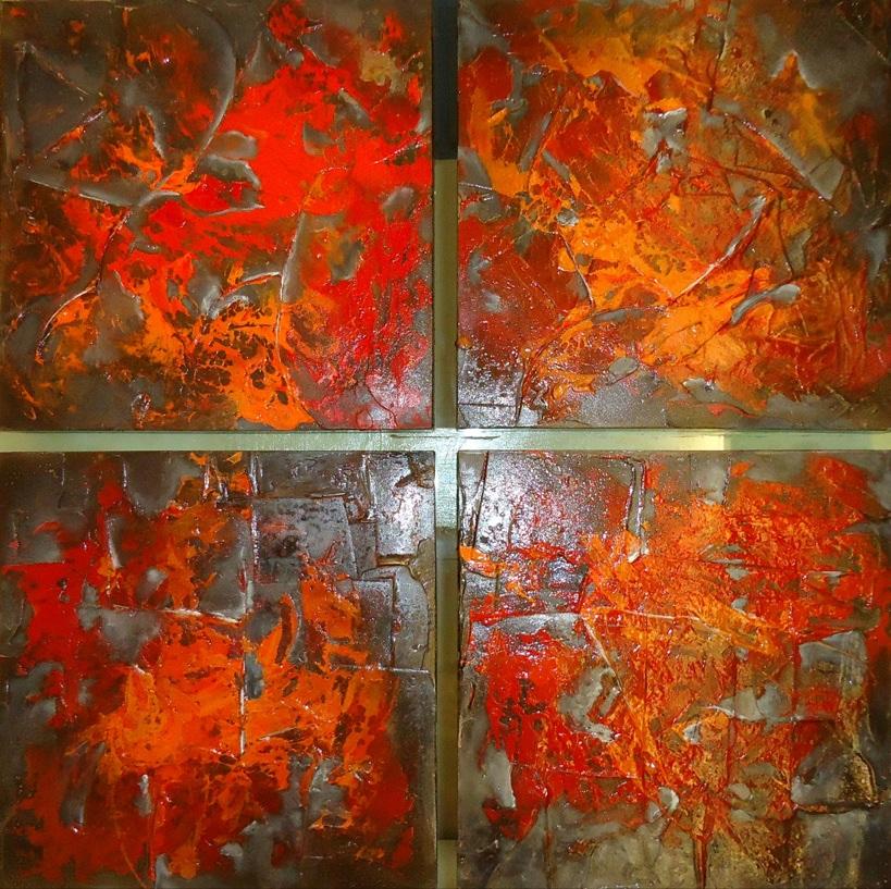rojo Norma Lujan Artist Gallery Guadalajara