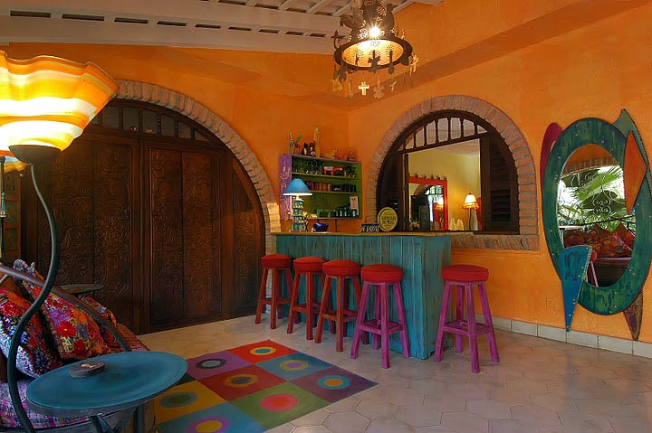 The decor is playful and colorful!