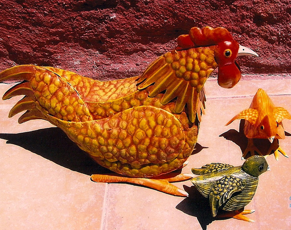 Hen and Chicks - Gregorio Juarez Sanchez