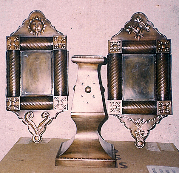 Picture and Candle Holders - Gregorio Juarez Sanchez