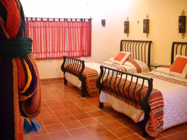 Twin Guestroom Casa Hamaca Valladolid Yucatan