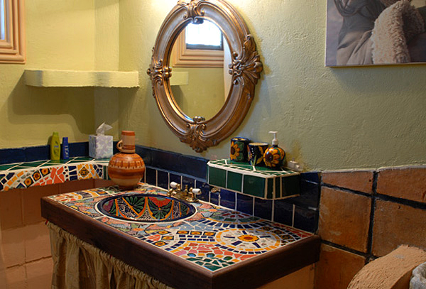 Casa Buena - Hand Painted Bathroom Sink