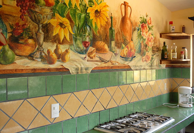 Casa Buena - Kitchen Mural